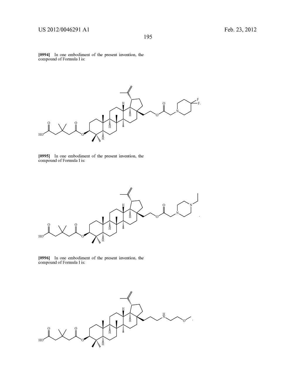 Extended Triterpene Derivatives - diagram, schematic, and image 195