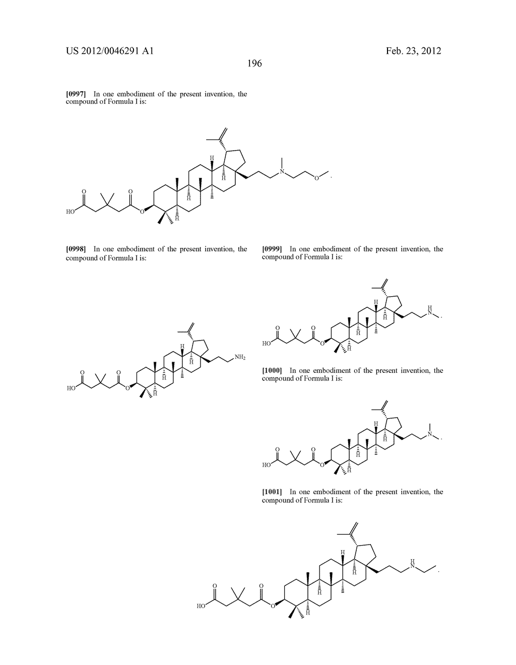 Extended Triterpene Derivatives - diagram, schematic, and image 196