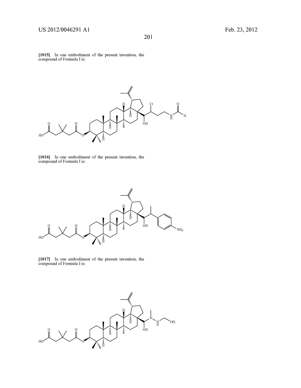 Extended Triterpene Derivatives - diagram, schematic, and image 201