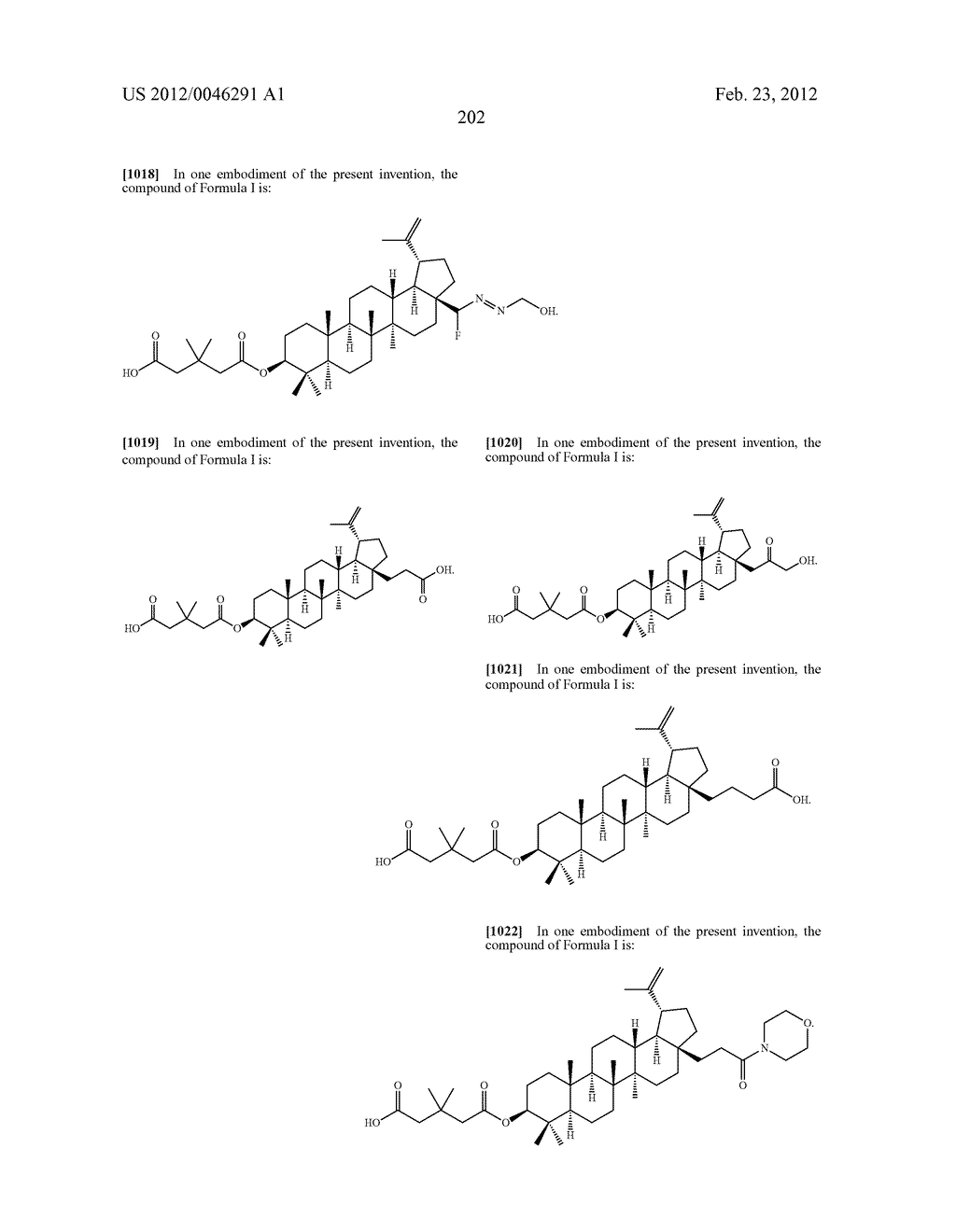 Extended Triterpene Derivatives - diagram, schematic, and image 202