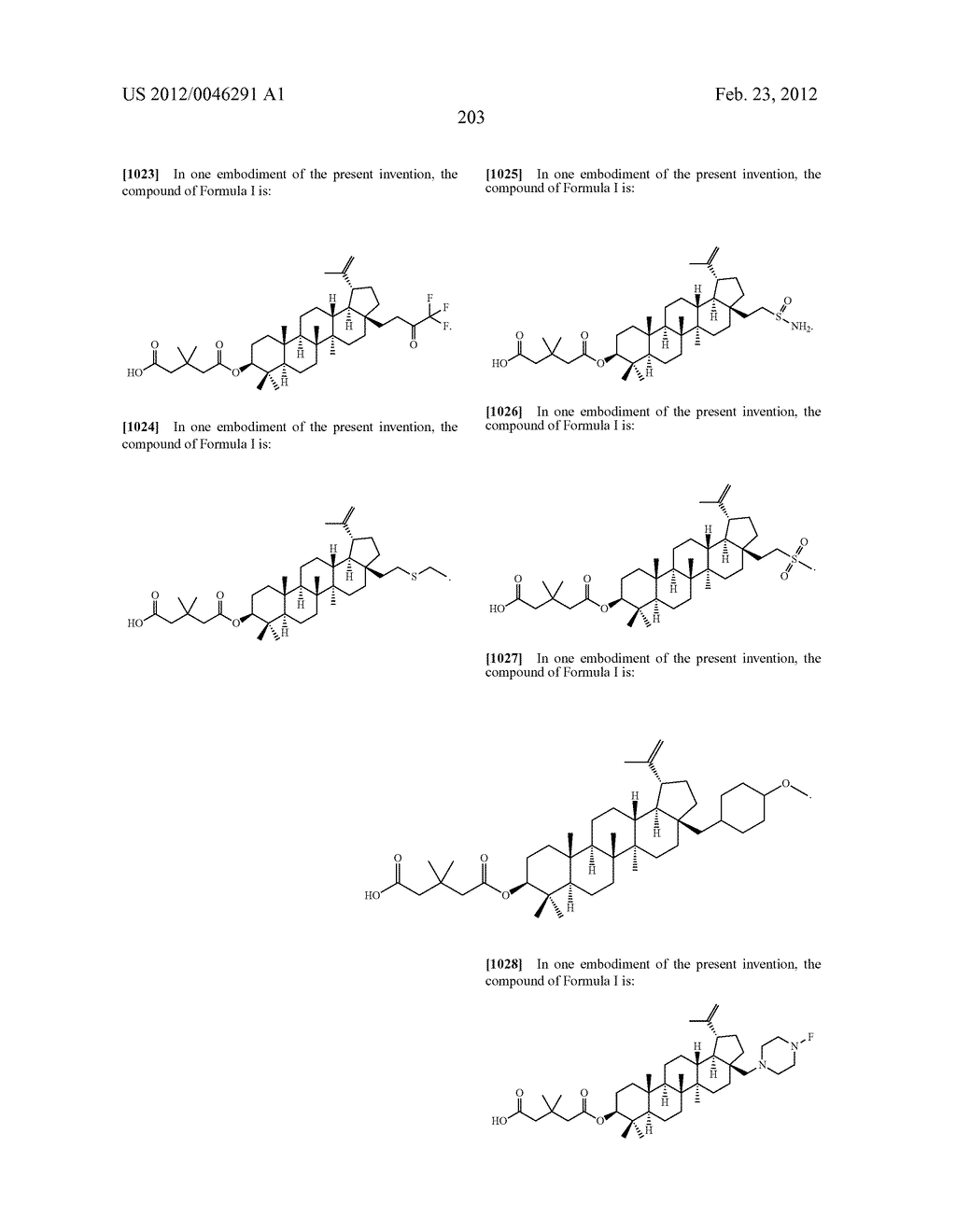 Extended Triterpene Derivatives - diagram, schematic, and image 203