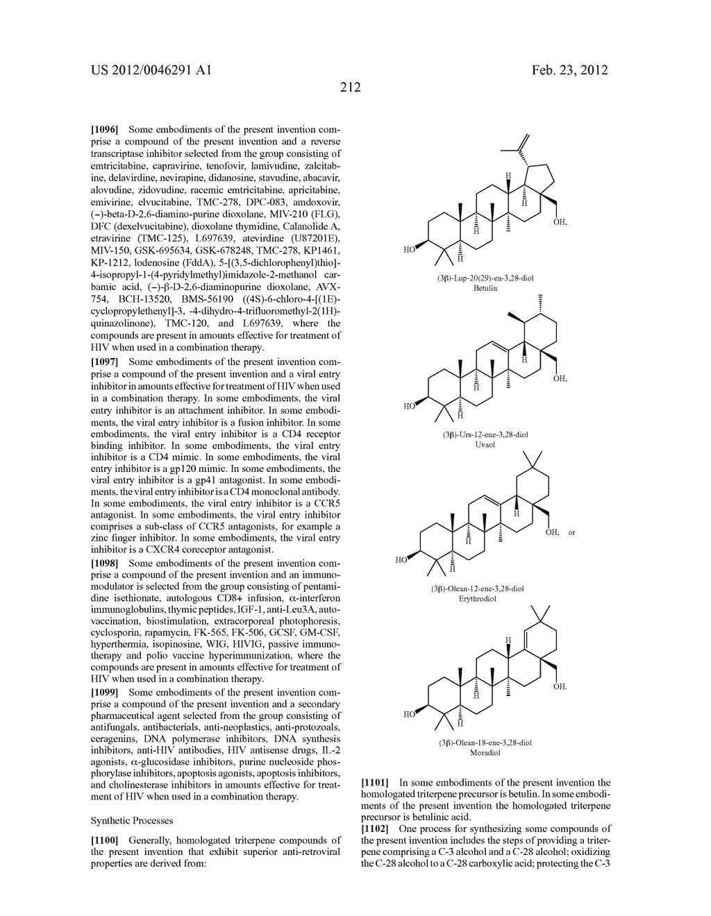 Extended Triterpene Derivatives - diagram, schematic, and image 212