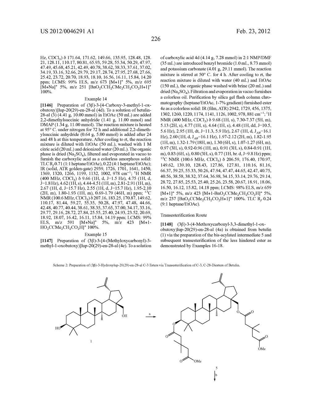 Extended Triterpene Derivatives - diagram, schematic, and image 226