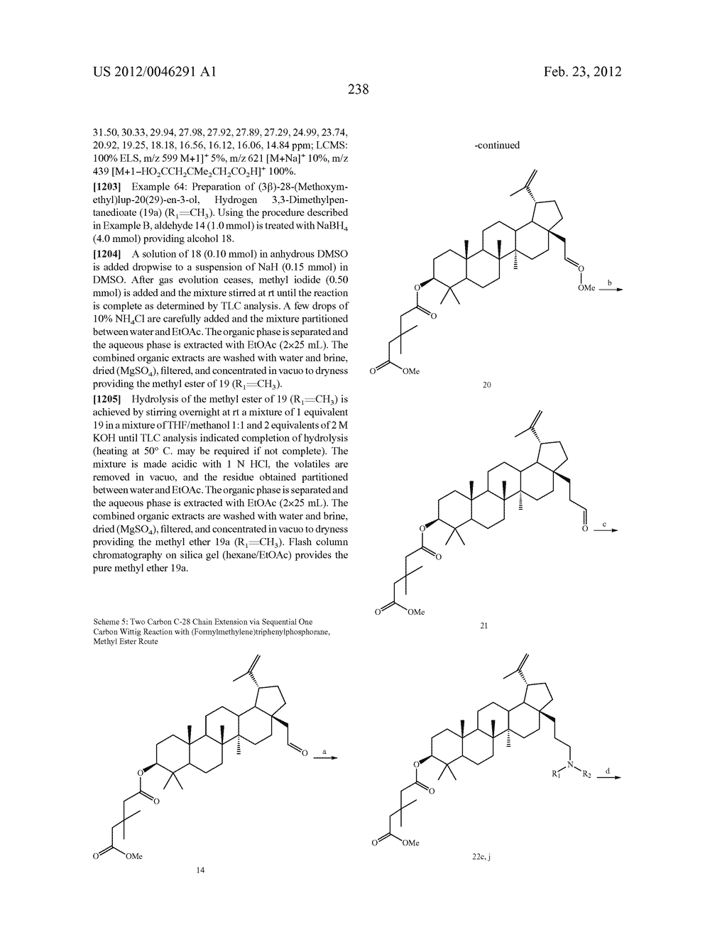 Extended Triterpene Derivatives - diagram, schematic, and image 238