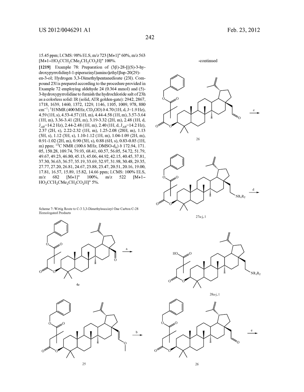 Extended Triterpene Derivatives - diagram, schematic, and image 242