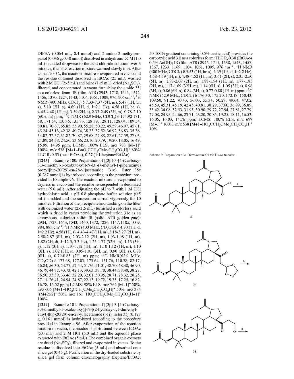 Extended Triterpene Derivatives - diagram, schematic, and image 248
