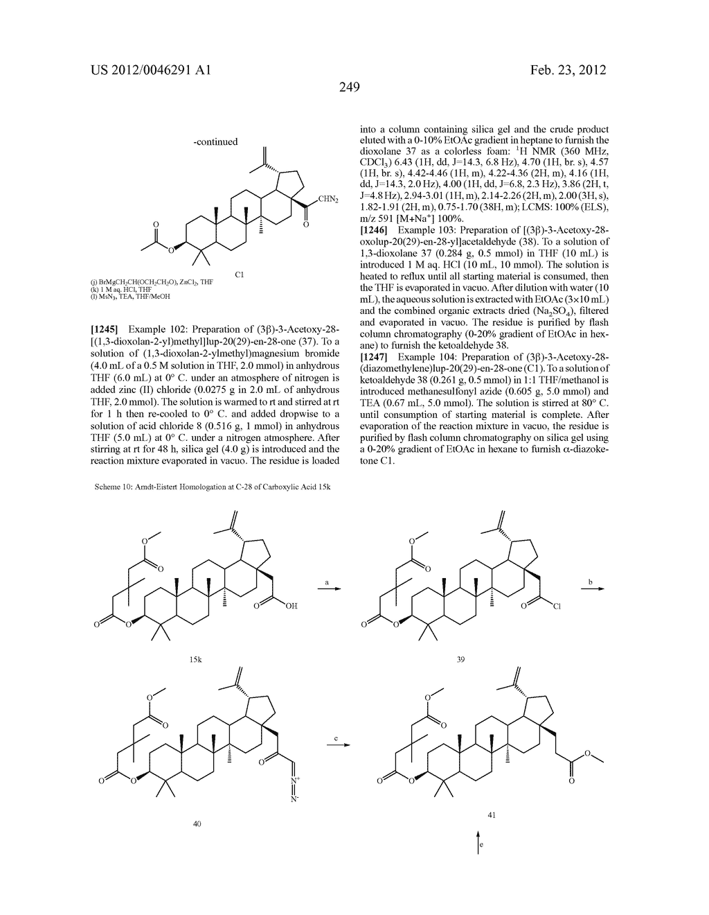 Extended Triterpene Derivatives - diagram, schematic, and image 249