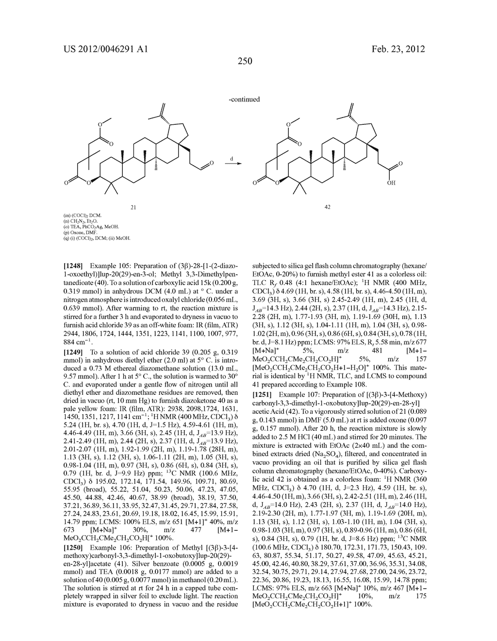 Extended Triterpene Derivatives - diagram, schematic, and image 250