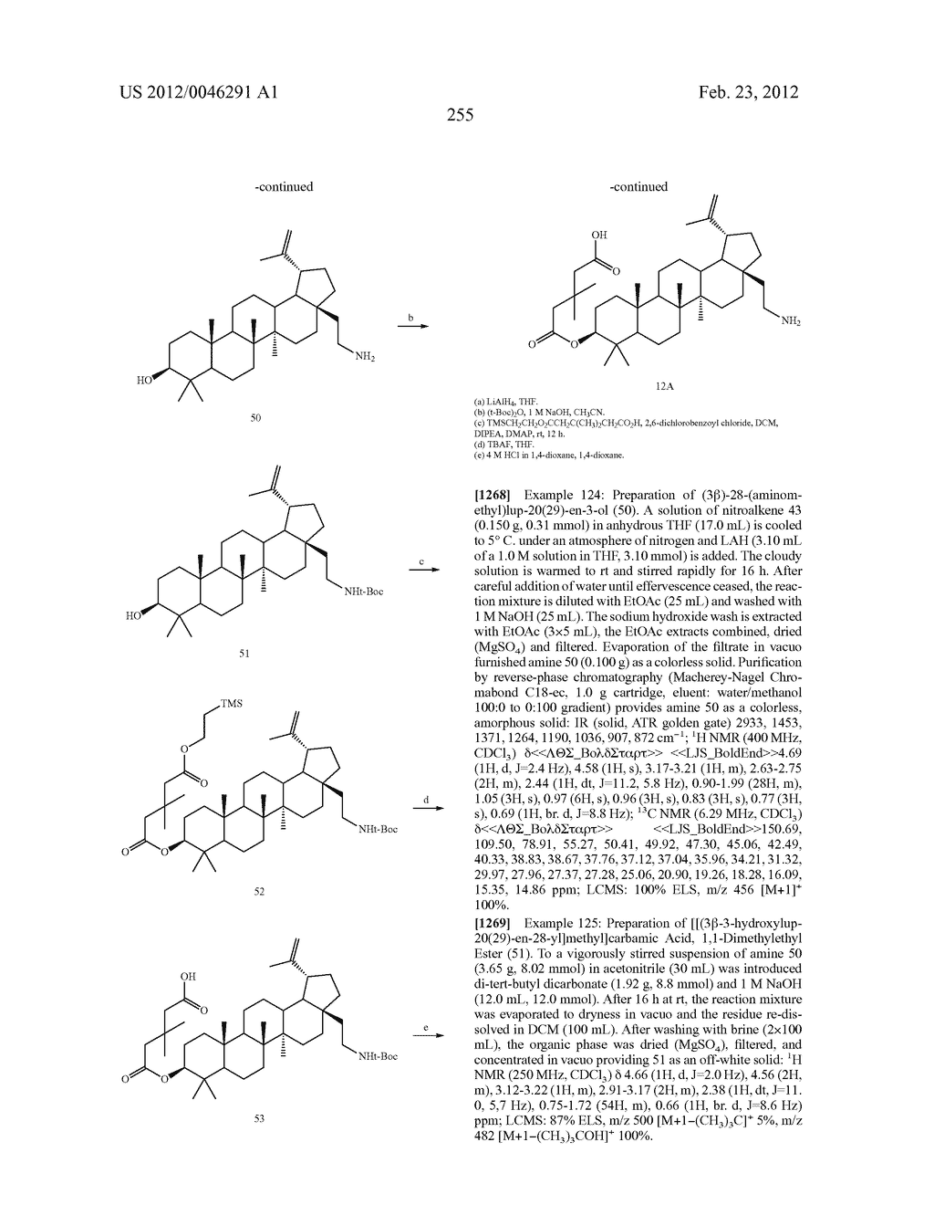 Extended Triterpene Derivatives - diagram, schematic, and image 255