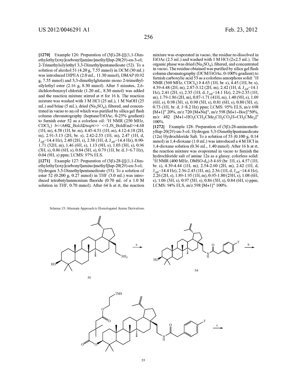 Extended Triterpene Derivatives - diagram, schematic, and image 256
