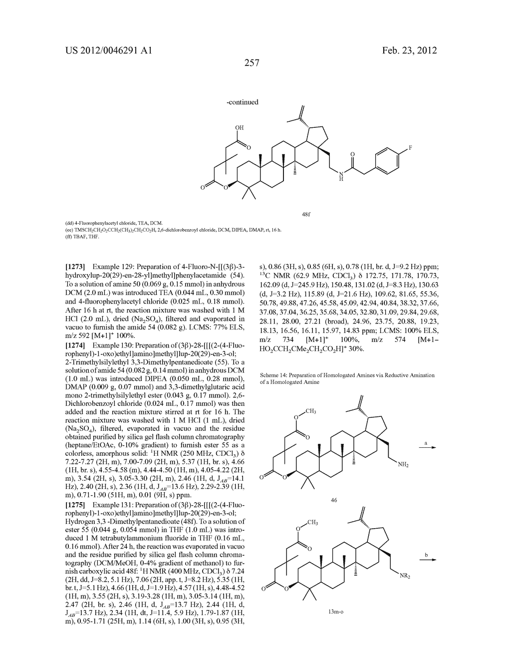 Extended Triterpene Derivatives - diagram, schematic, and image 257