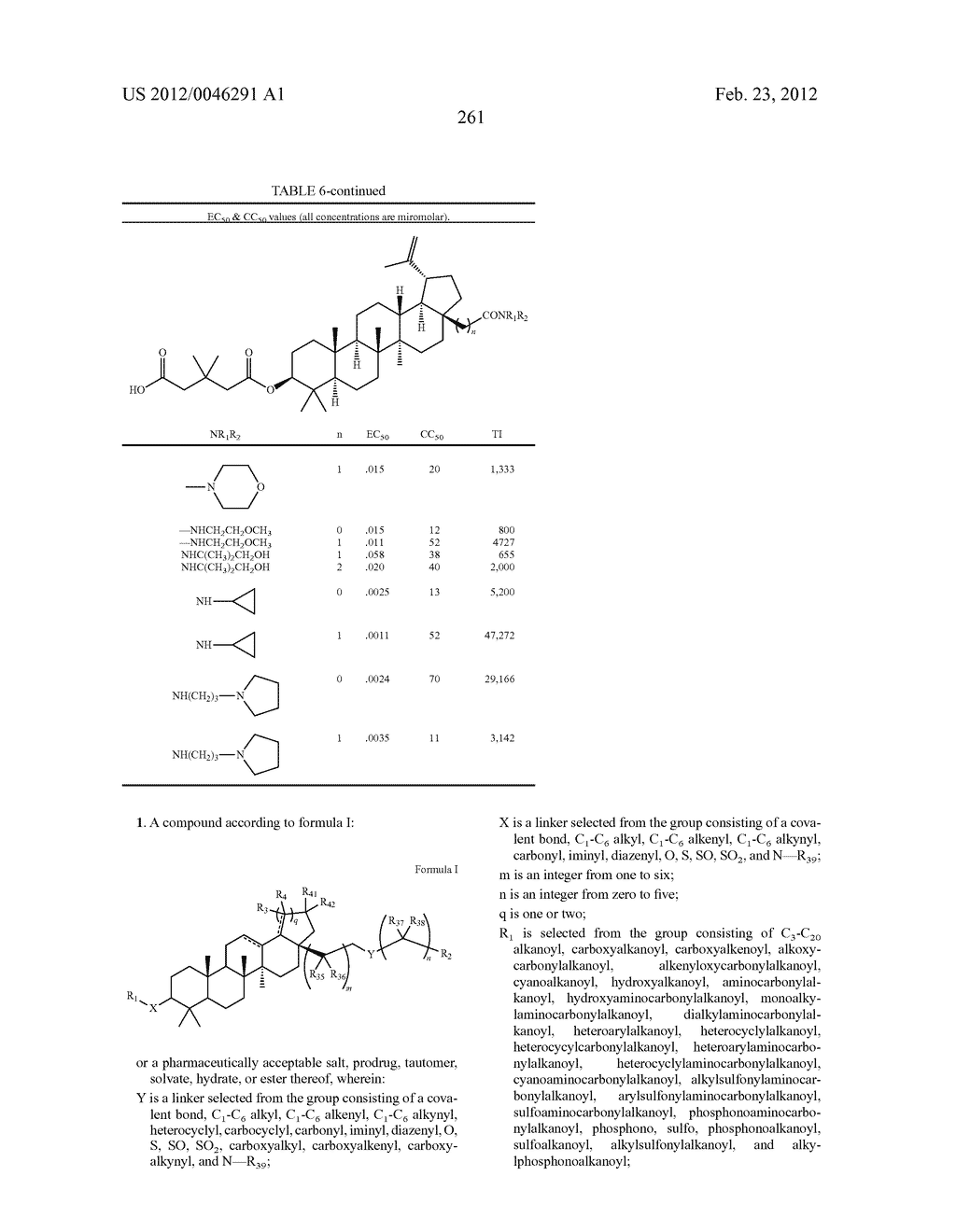 Extended Triterpene Derivatives - diagram, schematic, and image 261