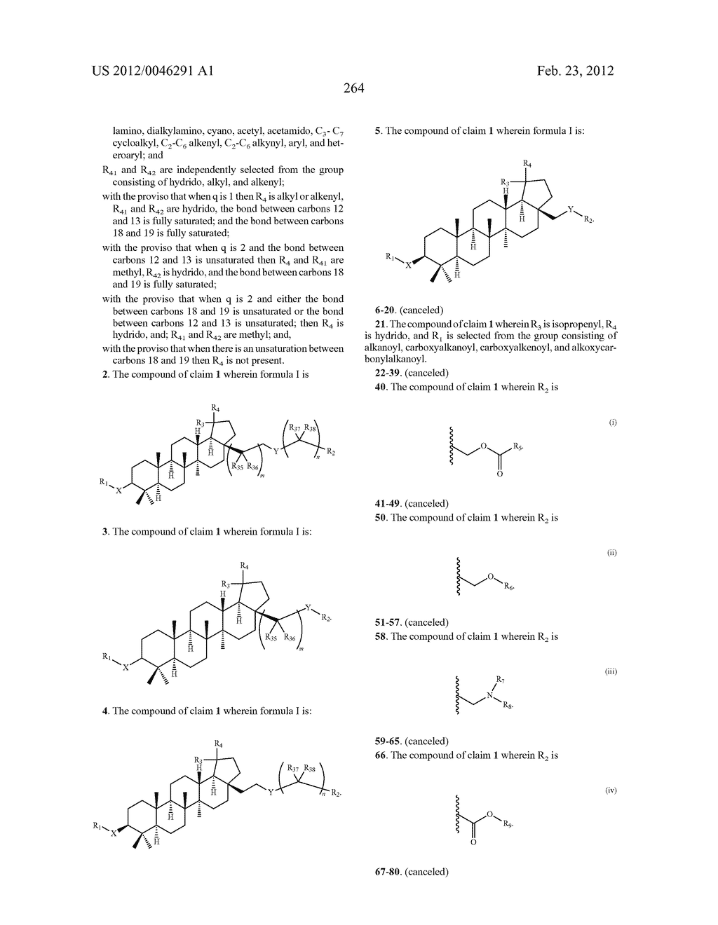 Extended Triterpene Derivatives - diagram, schematic, and image 264