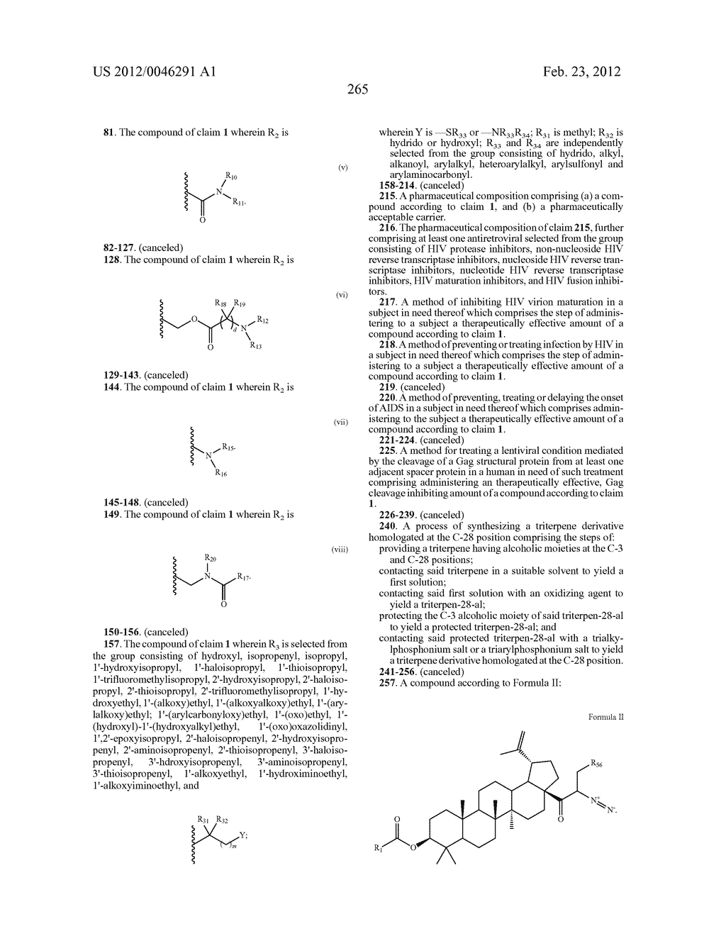 Extended Triterpene Derivatives - diagram, schematic, and image 265
