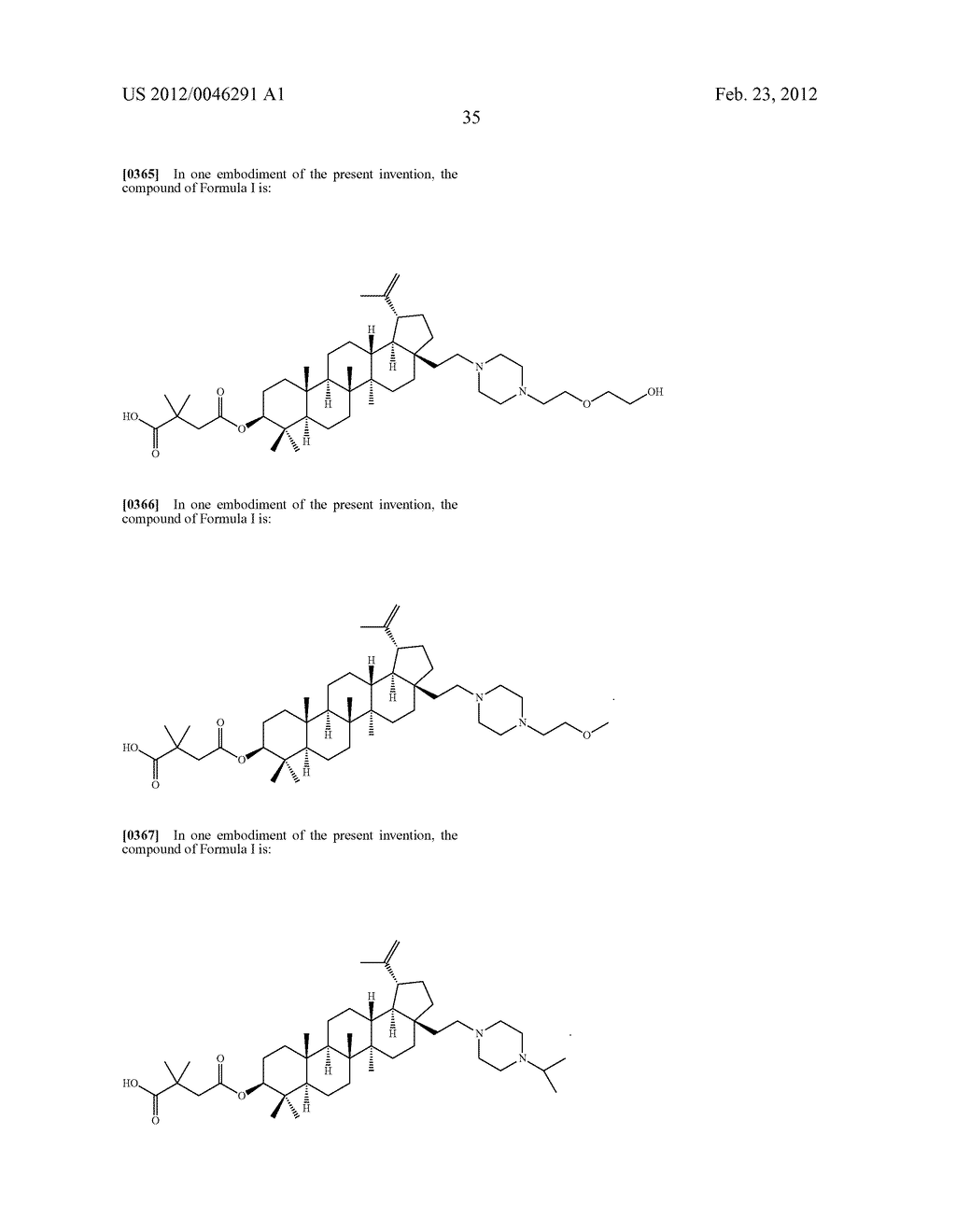 Extended Triterpene Derivatives - diagram, schematic, and image 37