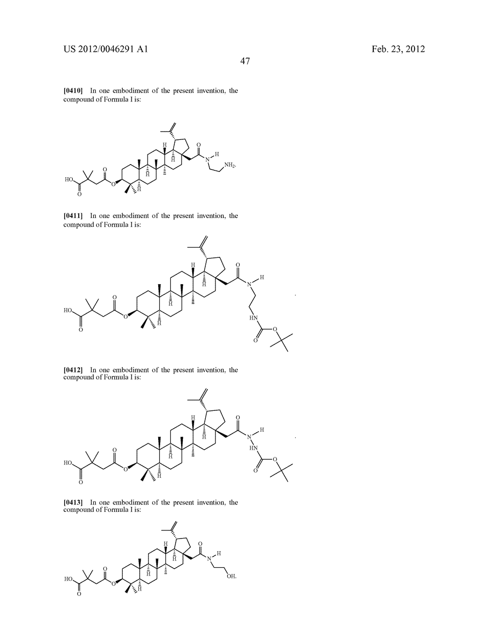 Extended Triterpene Derivatives - diagram, schematic, and image 49