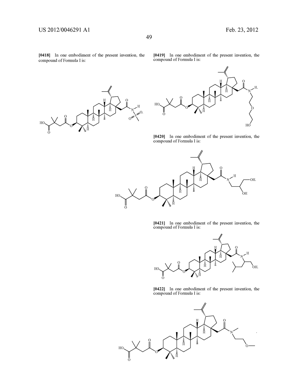 Extended Triterpene Derivatives - diagram, schematic, and image 51