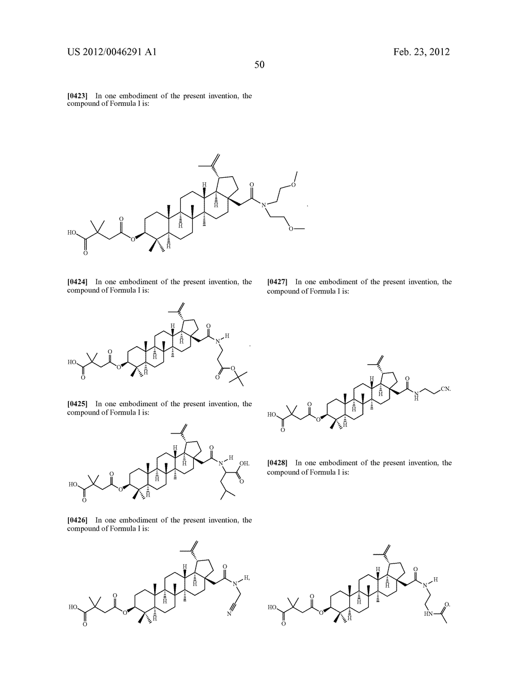 Extended Triterpene Derivatives - diagram, schematic, and image 52
