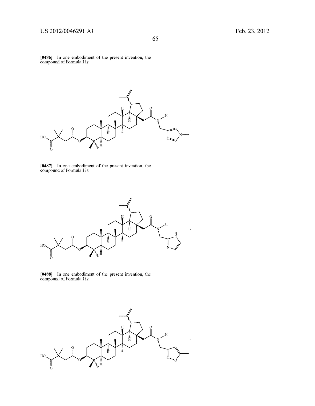 Extended Triterpene Derivatives - diagram, schematic, and image 67