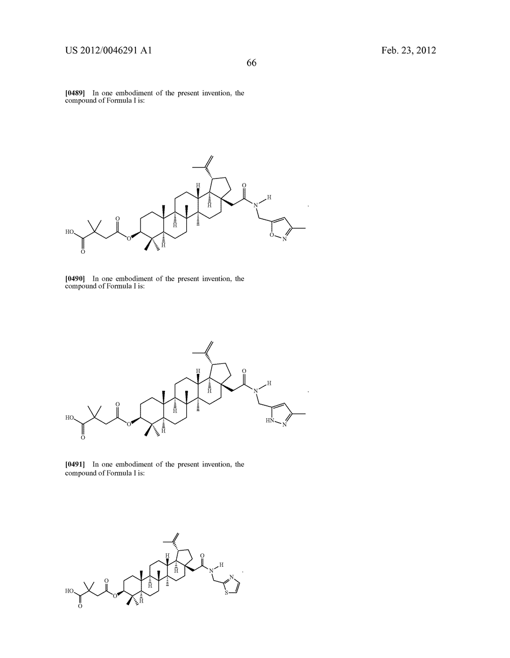 Extended Triterpene Derivatives - diagram, schematic, and image 68