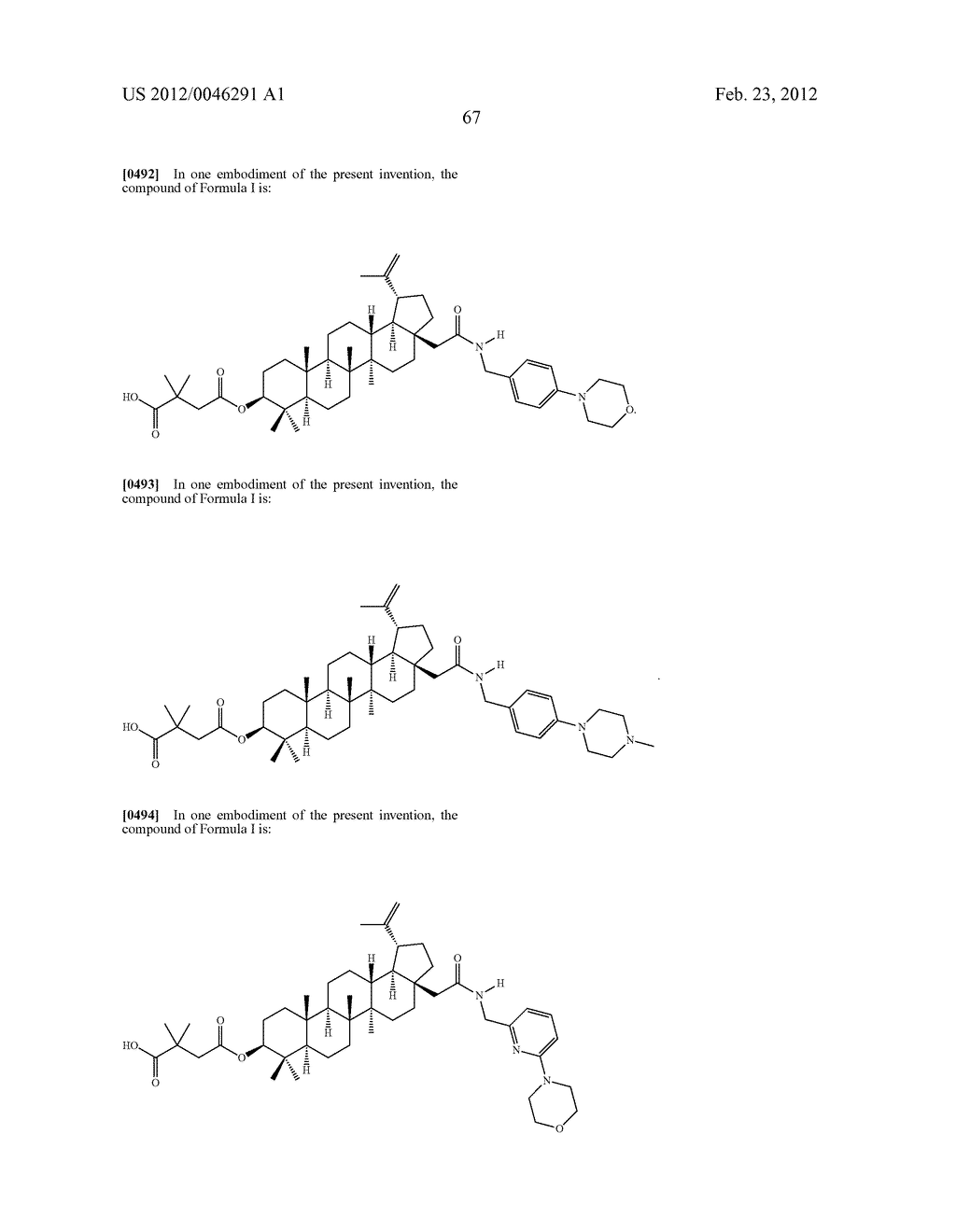 Extended Triterpene Derivatives - diagram, schematic, and image 69