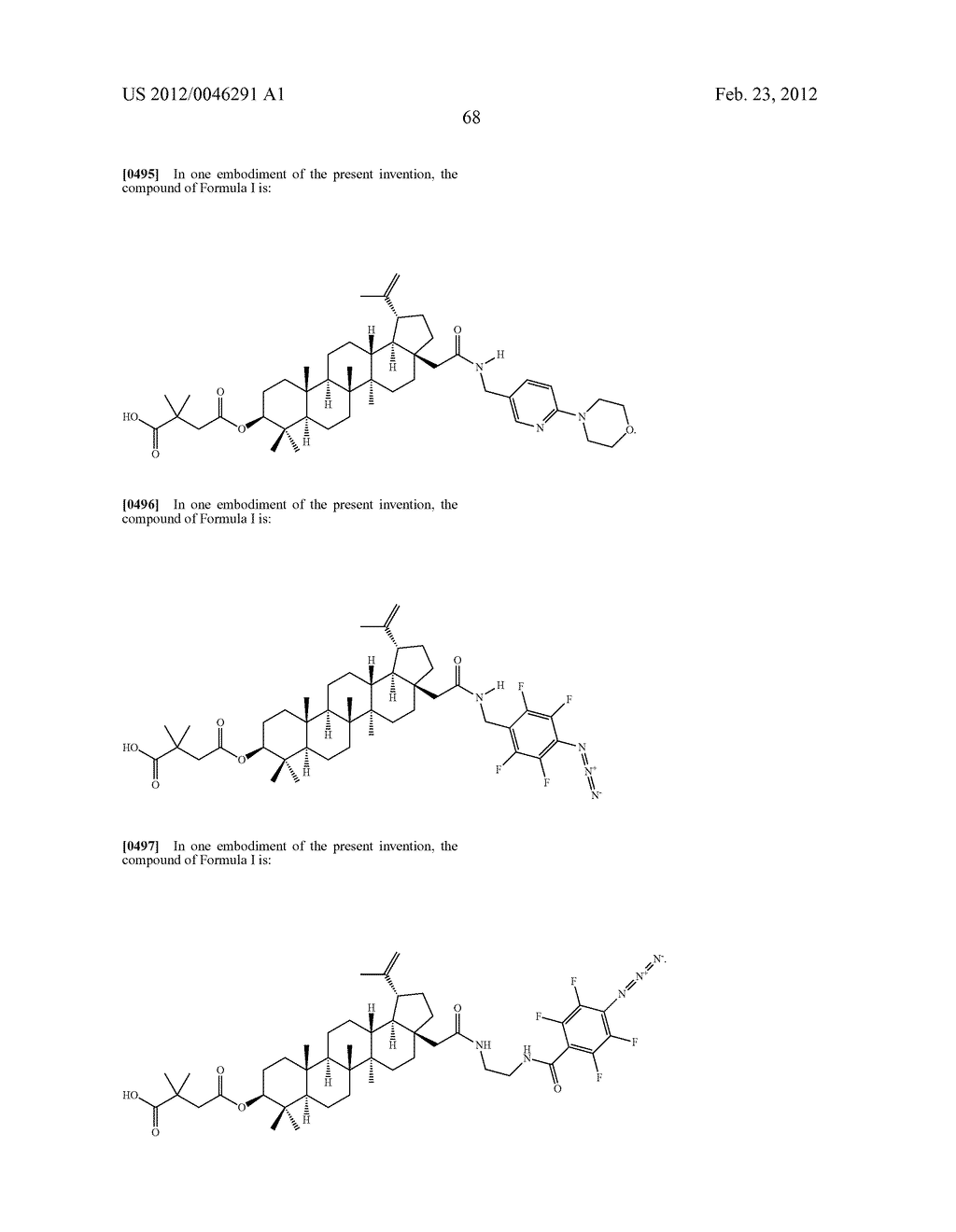 Extended Triterpene Derivatives - diagram, schematic, and image 70