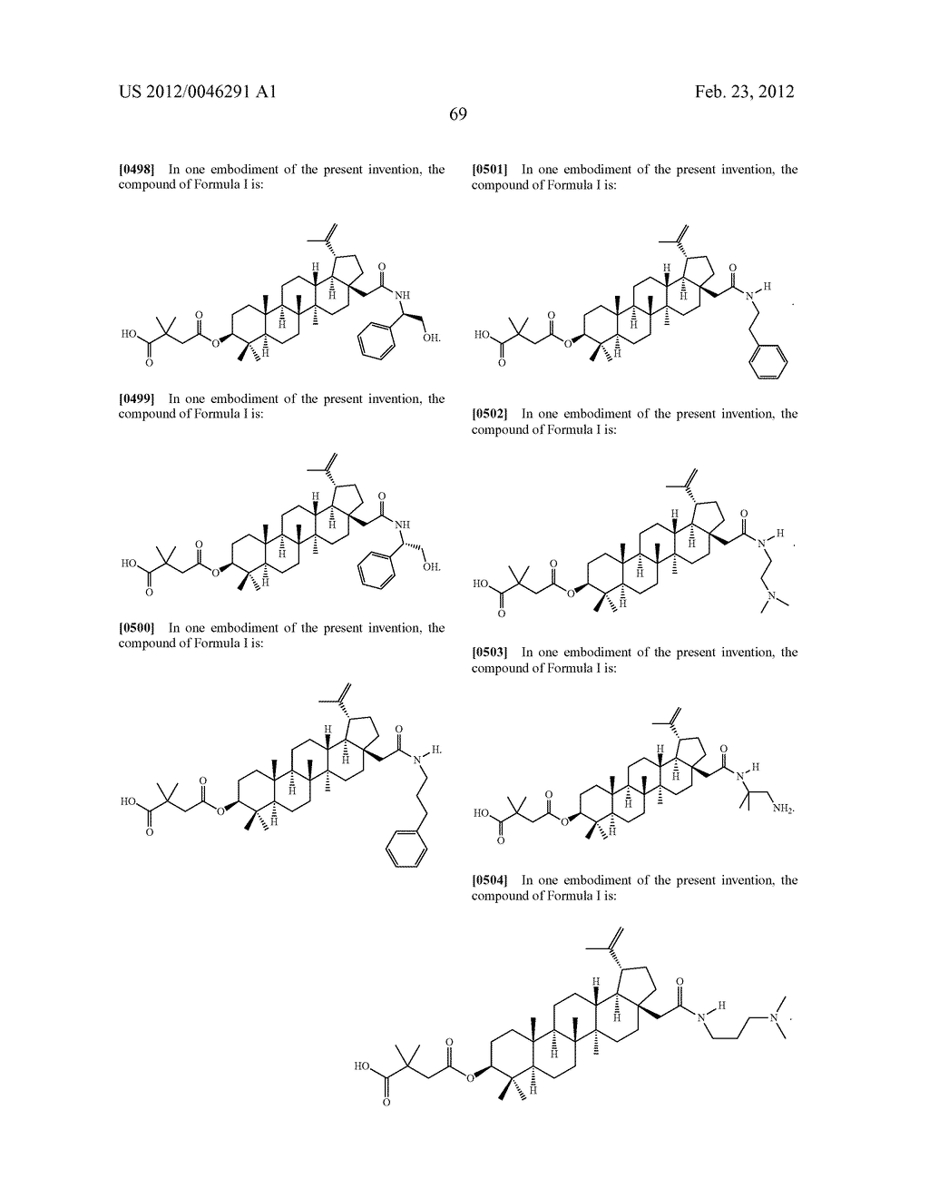 Extended Triterpene Derivatives - diagram, schematic, and image 71