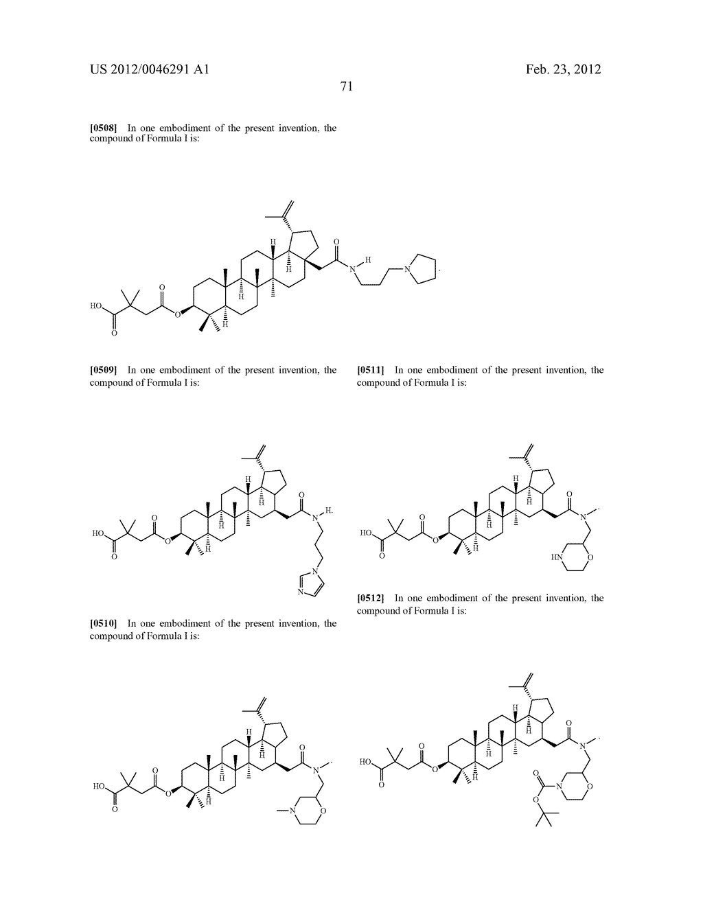 Extended Triterpene Derivatives - diagram, schematic, and image 73