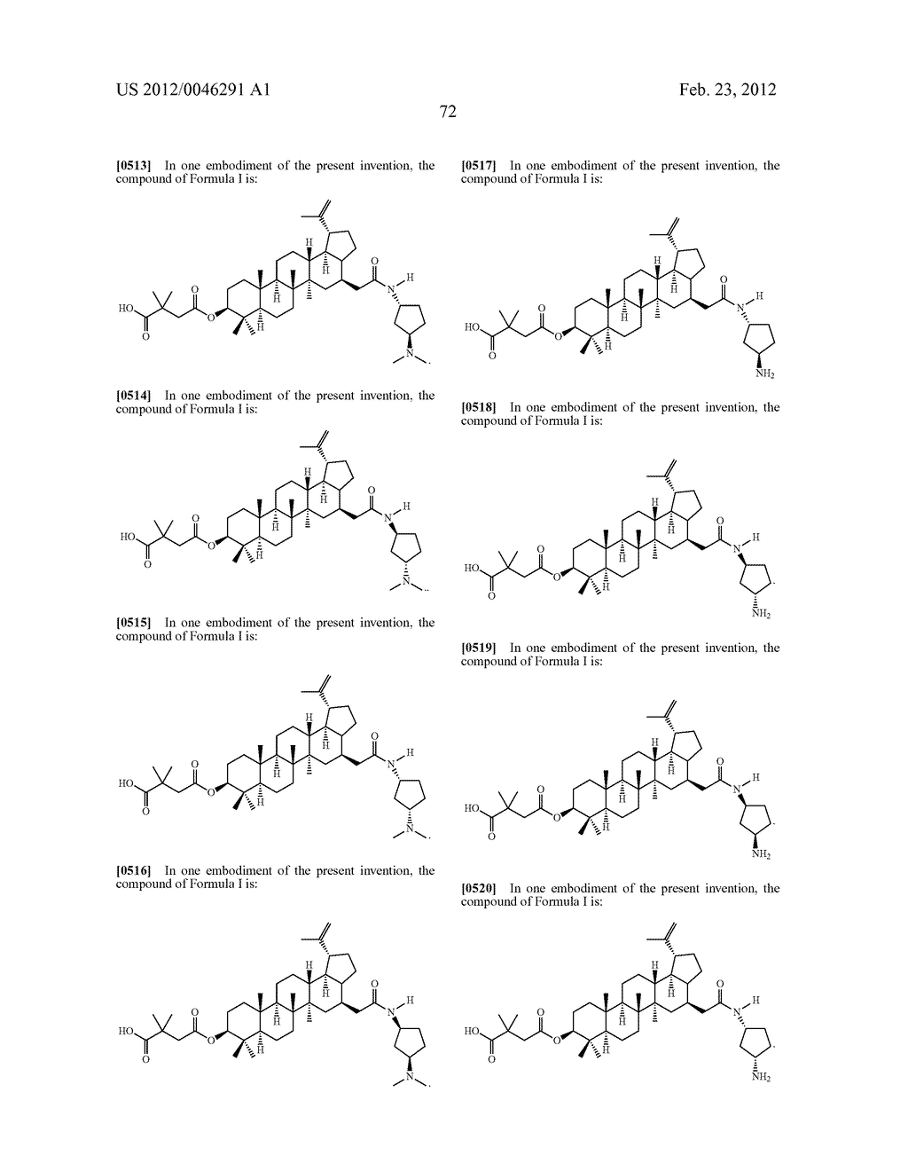 Extended Triterpene Derivatives - diagram, schematic, and image 74