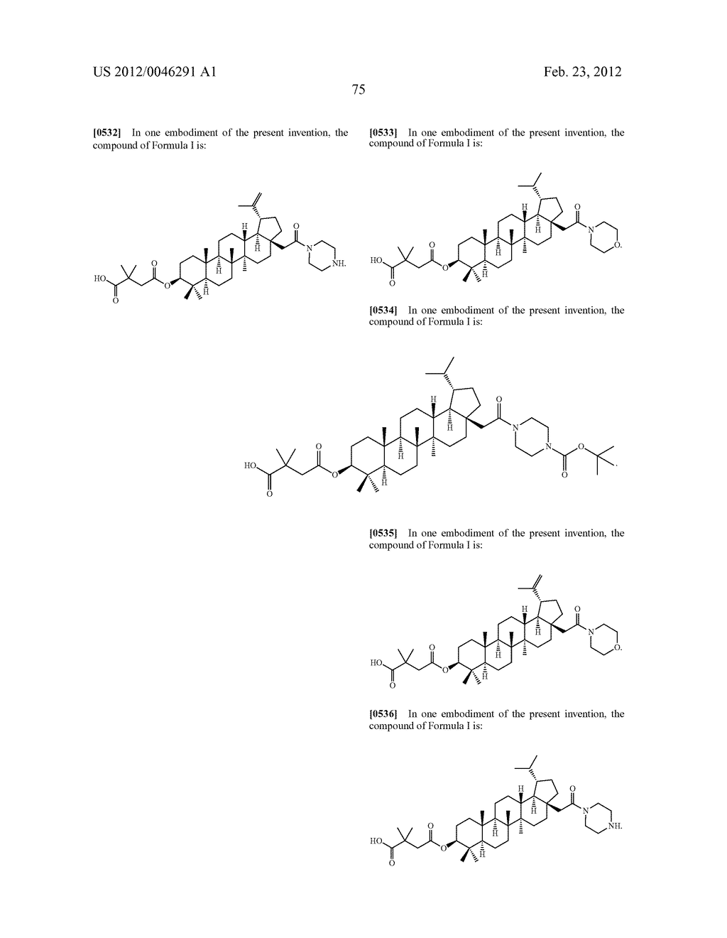 Extended Triterpene Derivatives - diagram, schematic, and image 77