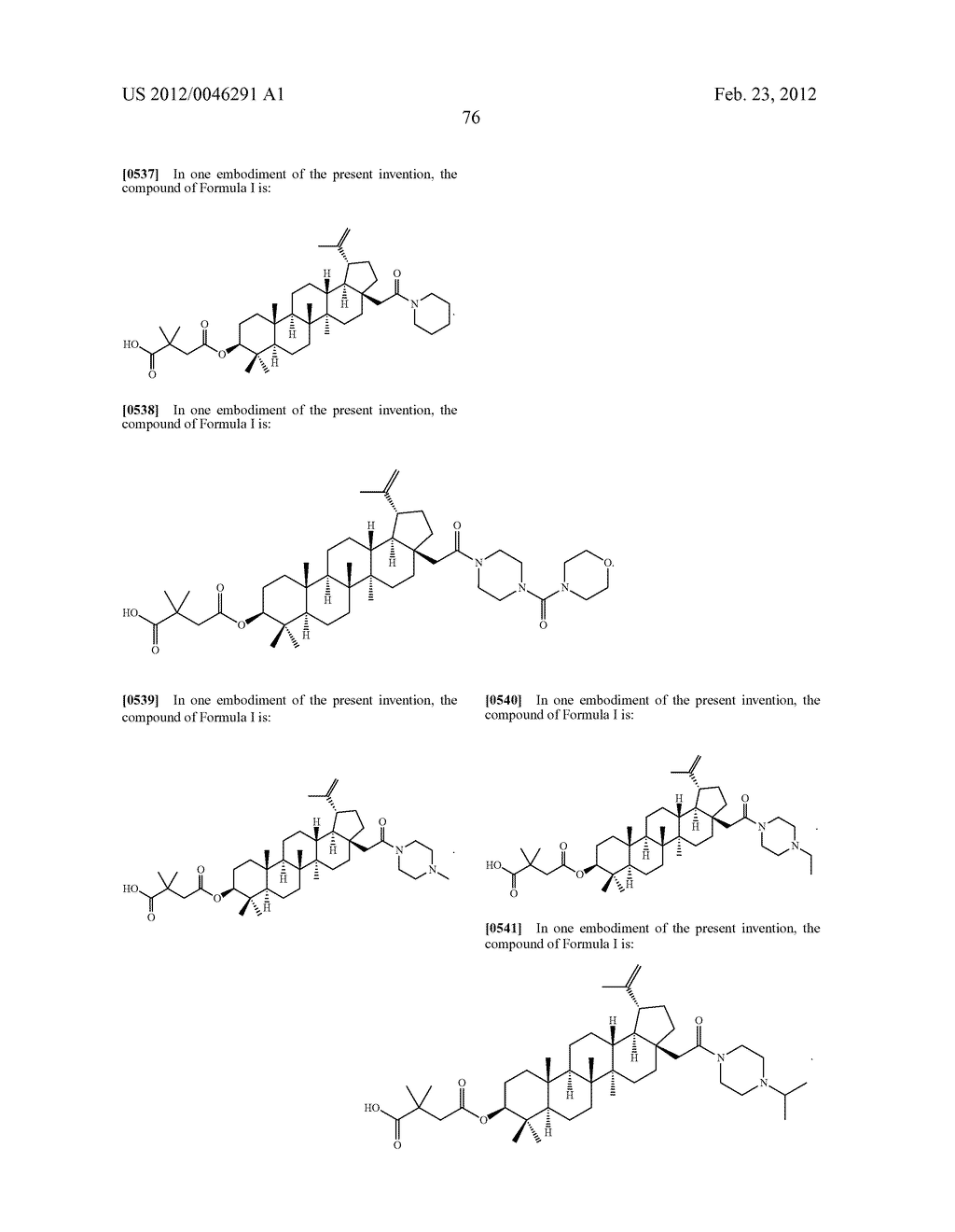 Extended Triterpene Derivatives - diagram, schematic, and image 78