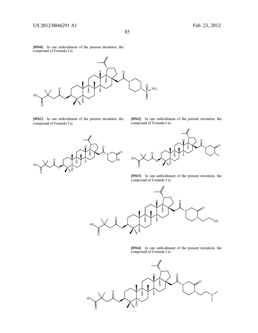 Extended Triterpene Derivatives - diagram, schematic, and image 85