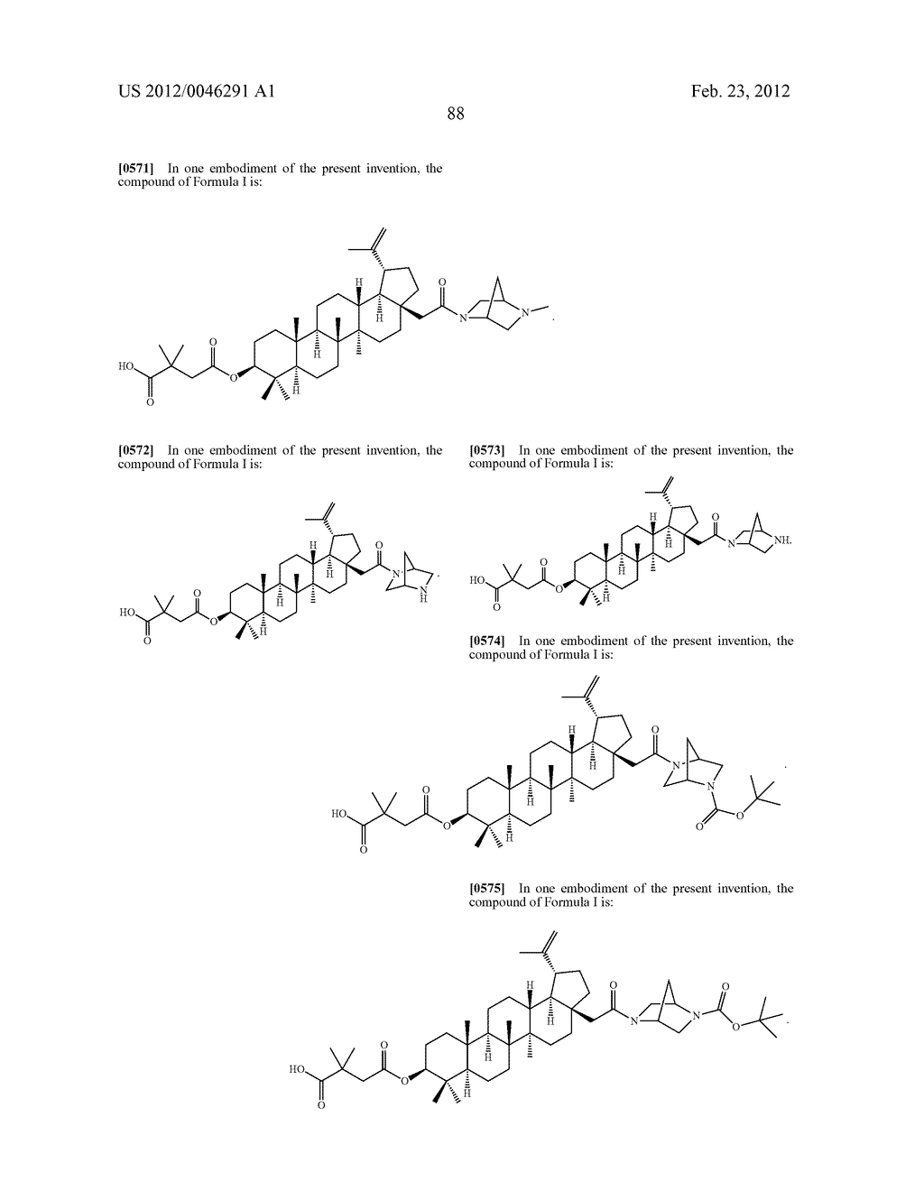 Extended Triterpene Derivatives - diagram, schematic, and image 88