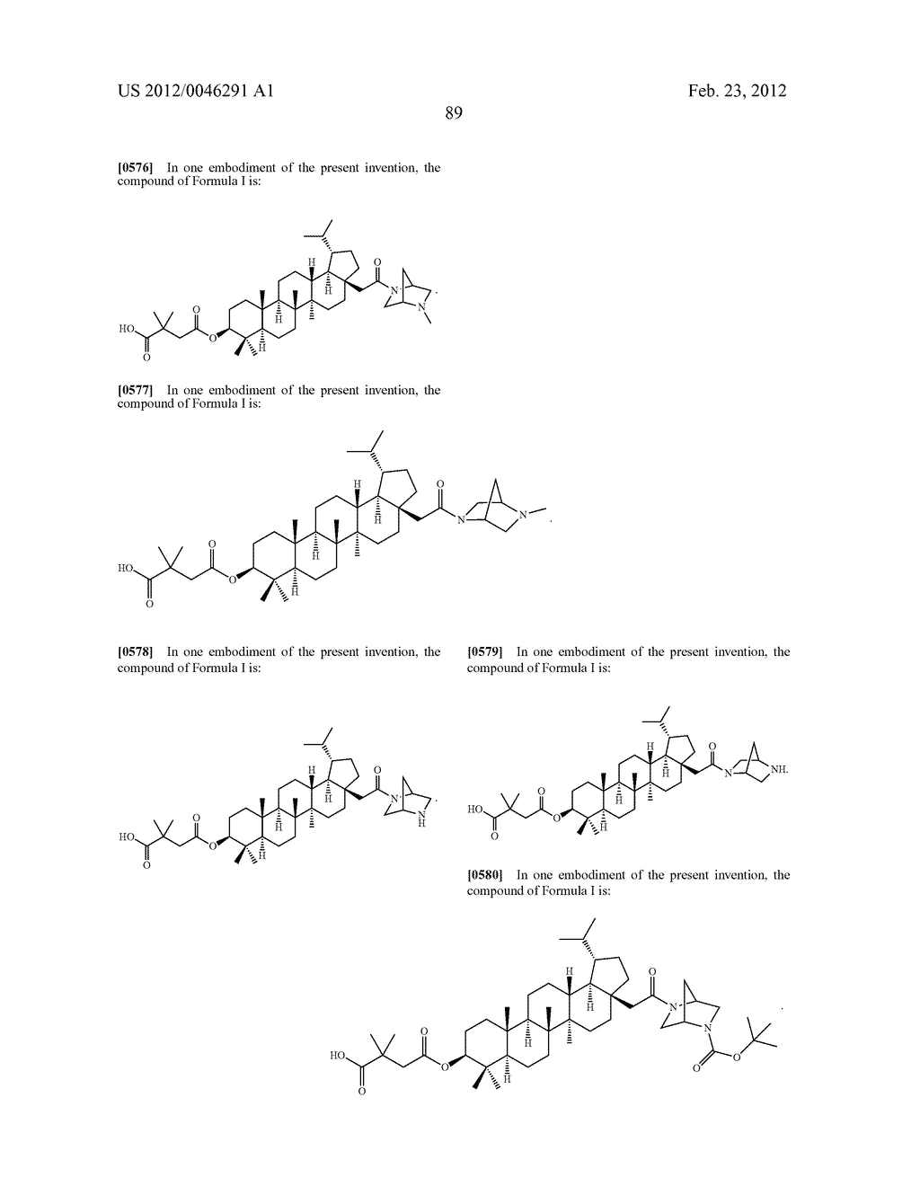 Extended Triterpene Derivatives - diagram, schematic, and image 89