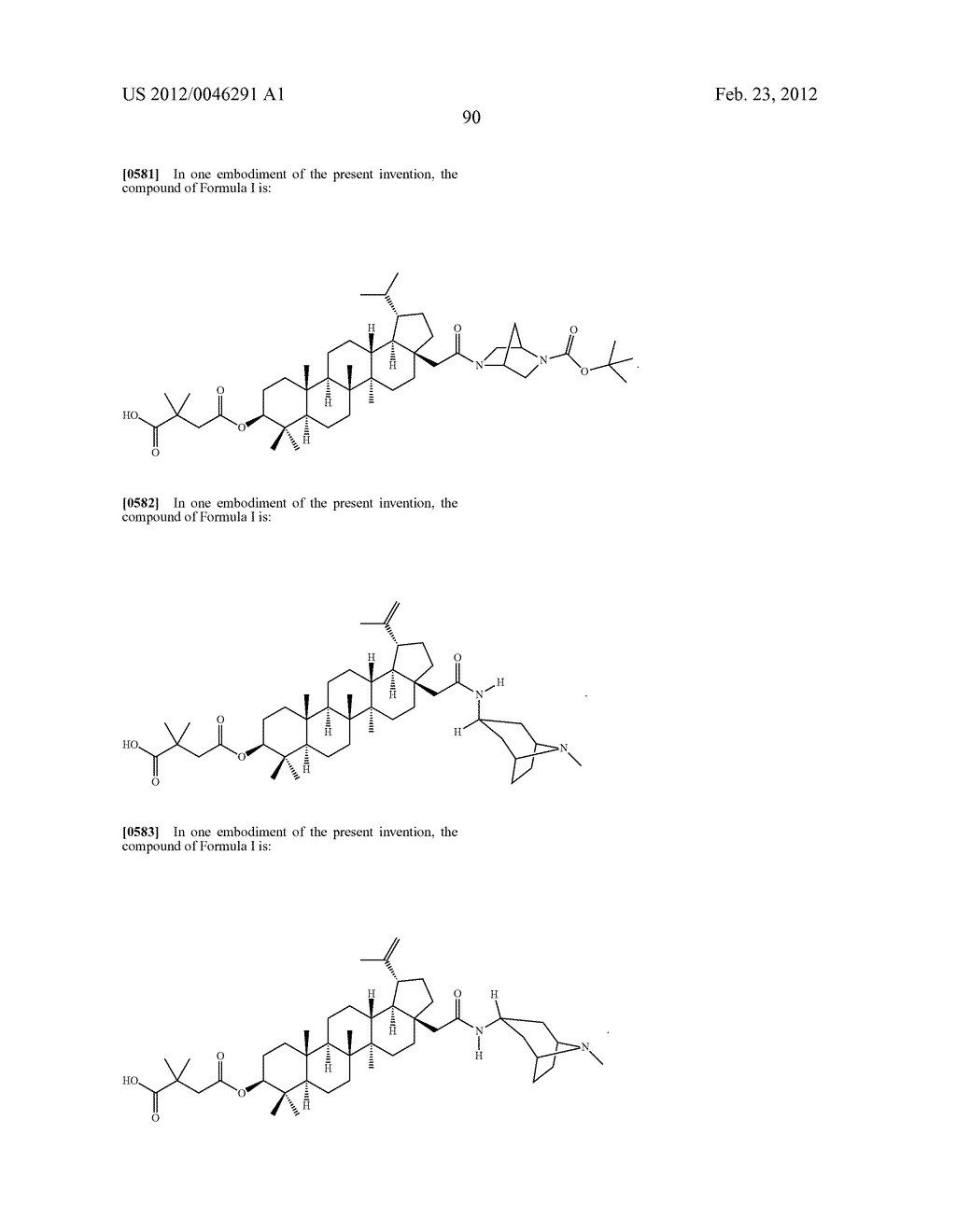 Extended Triterpene Derivatives - diagram, schematic, and image 90