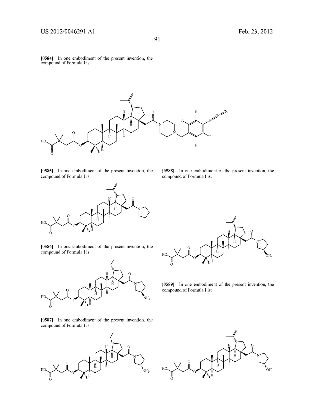 Extended Triterpene Derivatives - diagram, schematic, and image 91