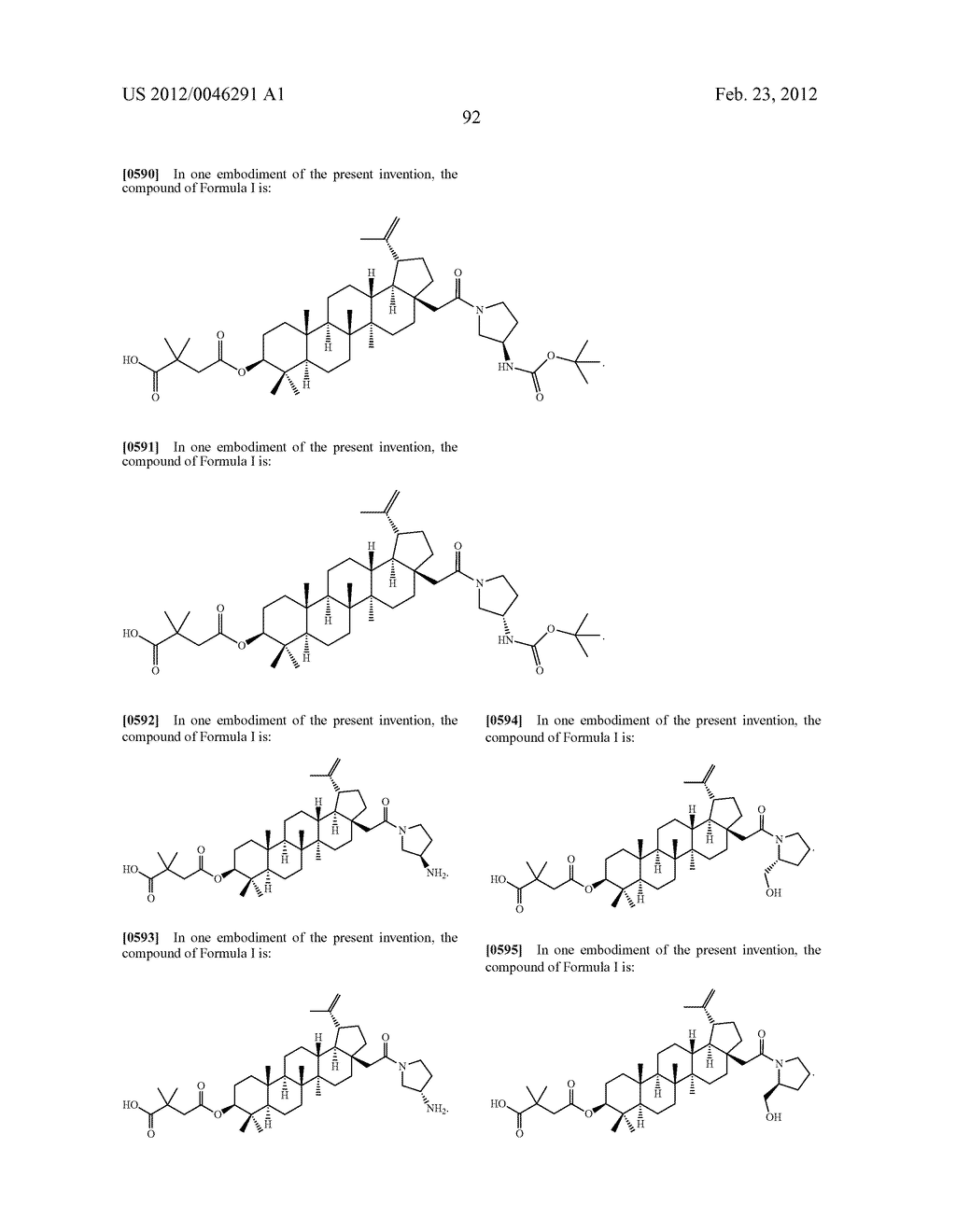 Extended Triterpene Derivatives - diagram, schematic, and image 92