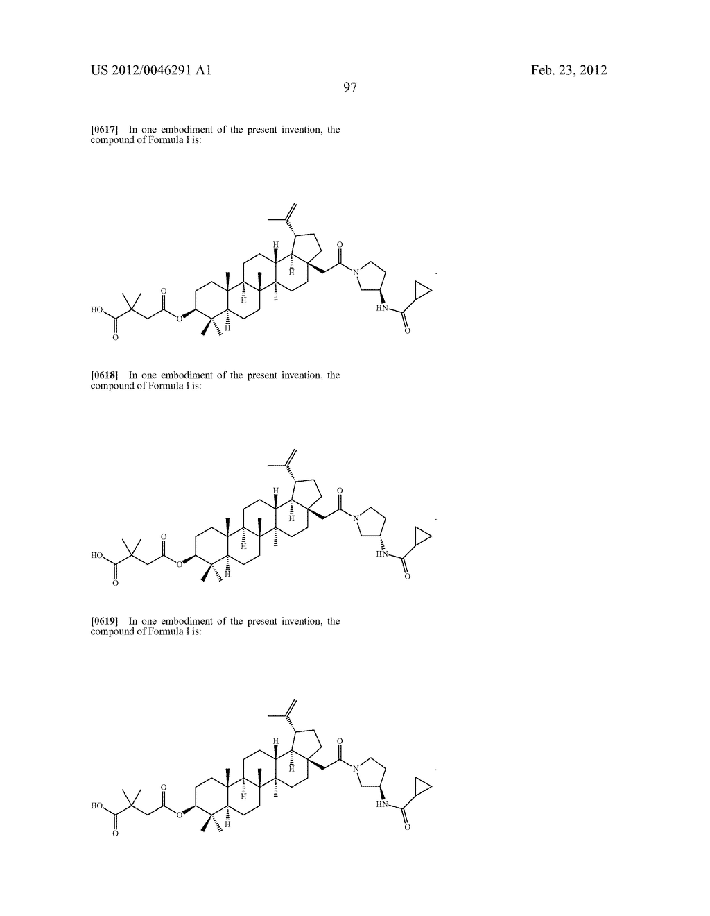 Extended Triterpene Derivatives - diagram, schematic, and image 97