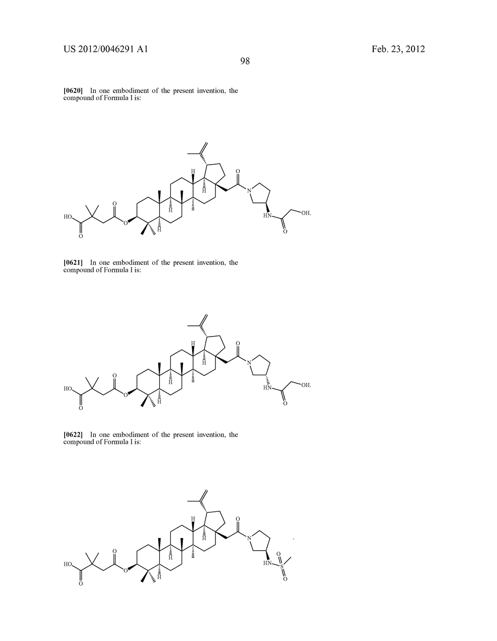 Extended Triterpene Derivatives - diagram, schematic, and image 98