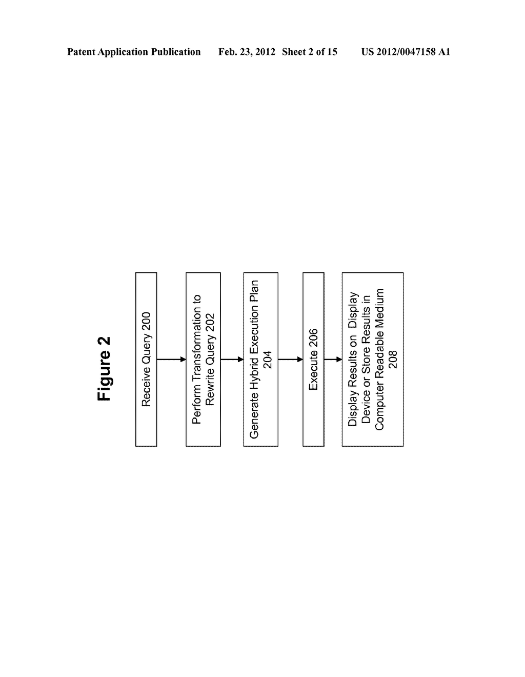 METHOD AND SYSTEM FOR PERFORMING QUERY OPTIMIZATION USING A HYBRID     EXECUTION PLAN - diagram, schematic, and image 03