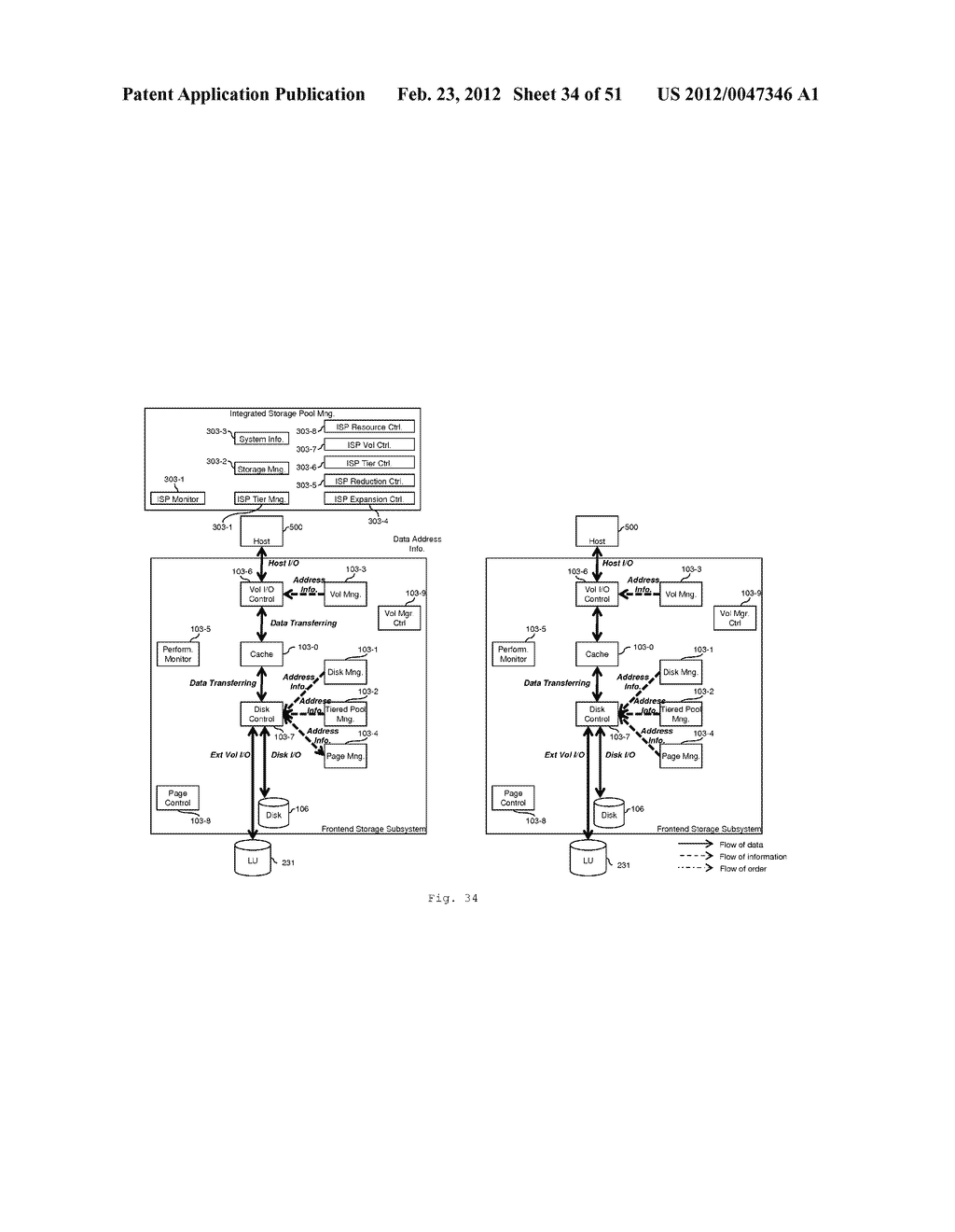 TIERED STORAGE POOL MANAGEMENT AND CONTROL FOR LOOSELY COUPLED MULTIPLE     STORAGE ENVIRONMENT - diagram, schematic, and image 35
