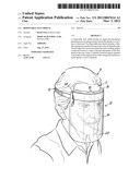 Disposable Face Shield diagram and image