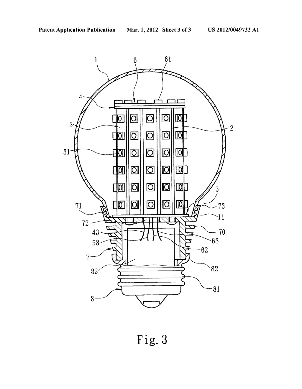 LED LIGHT BULB - diagram, schematic, and image 04