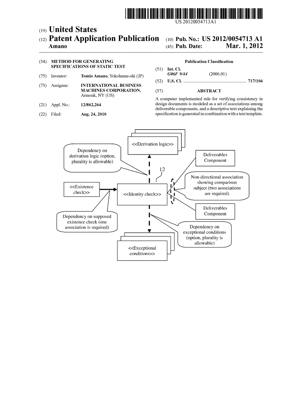 Method for Generating Specifications of Static Test - diagram, schematic, and image 01