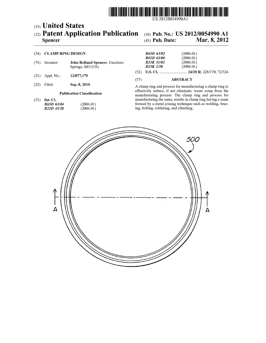 Clamp Ring Design - diagram, schematic, and image 01
