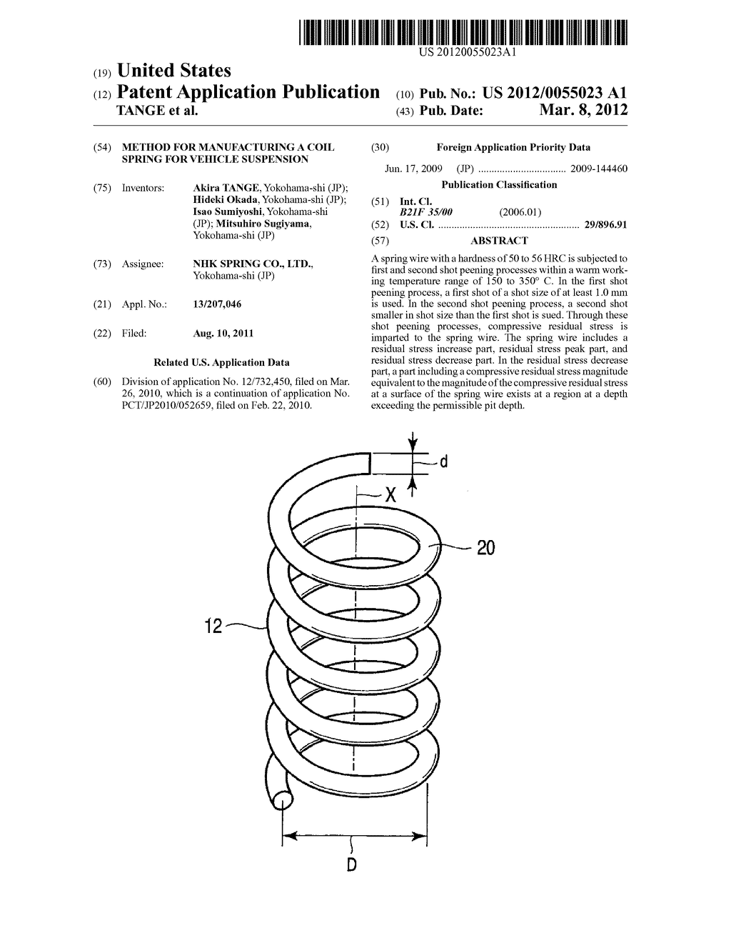 method for manufacturing a coil spring for vehicle suspension ...  patents