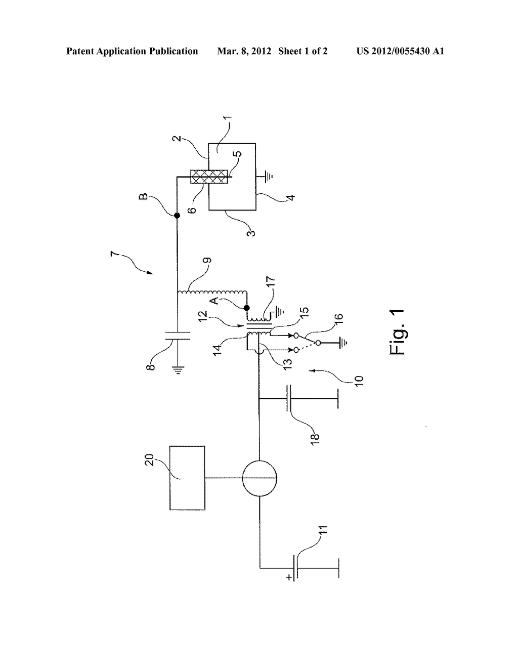 Ignition System and Method for Igniting Fuel in a Vehicle Engine by means  of a Corona Discharge - diagram, schematic, and image 02