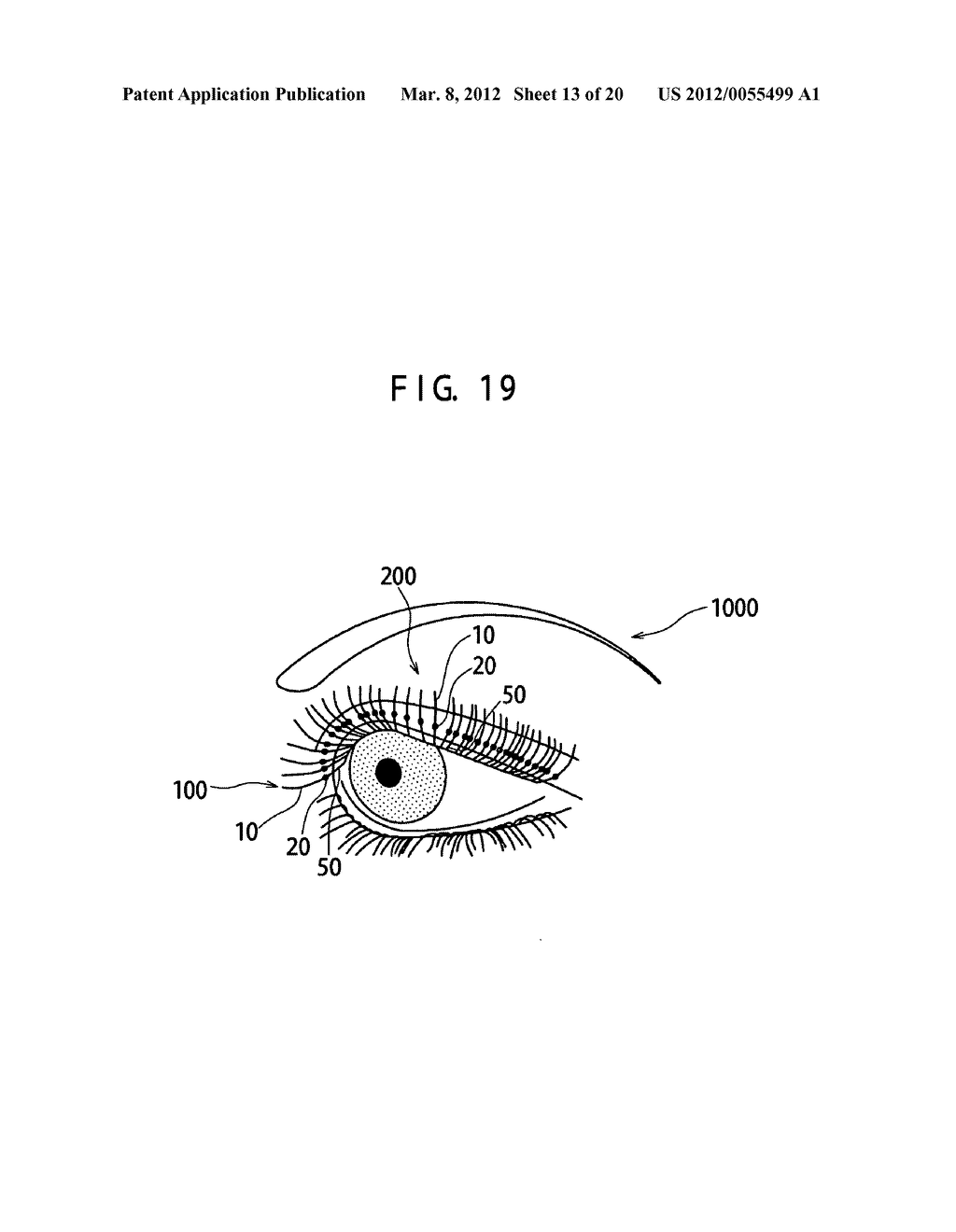 Artificial eyelash and method for attaching the same - diagram, schematic, and image 14