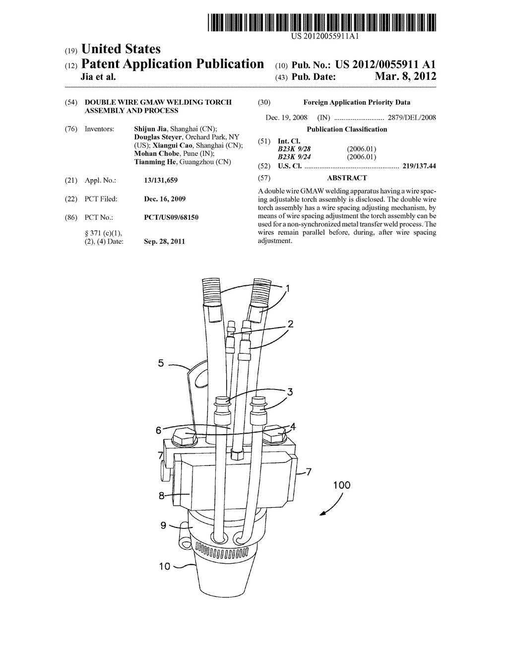 Double Wire Gmaw Welding Torch Assembly And Process Diagram Of Schematic Image 01