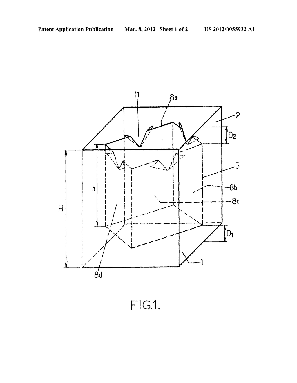 FLEXIBLE CONTAINER FOR PACKAGING SOLID PARTICULATE MATERIALS IN BULK, AND     USE THEREOF - diagram, schematic, and image 02